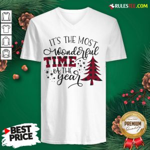 Awesome It's The Most Wonderful Time Of The Year Christmas V-neck - Design By Rulestee.com
