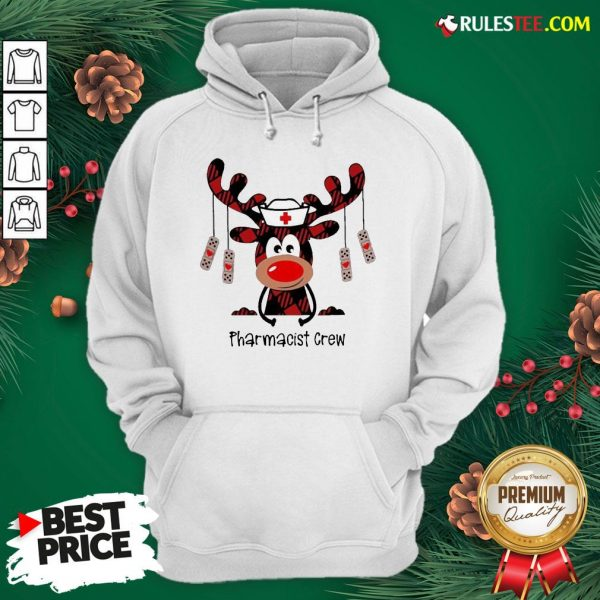 Awesome Plaid Reindeer Pharmacist Crew Christmas Hoodie - Design By Rulestee.com