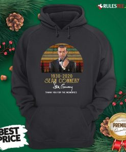 Awesome Sean Connery 1930 2020 Thank You For The Memories Signature Vintage Hoodie - Design By Rulestee.com
