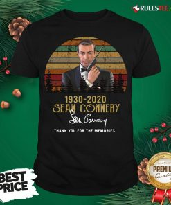 Awesome Sean Connery 1930 2020 Thank You For The Memories Signature Vintage Shirt - Design By Rulestee.com