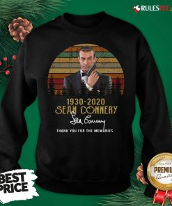 Awesome Sean Connery 1930 2020 Thank You For The Memories Signature Vintage Sweatshirt - Design By Rulestee.com