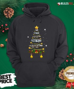 Funny Camping Car Christmas Tree Hoodie - Design By Rulestee.com