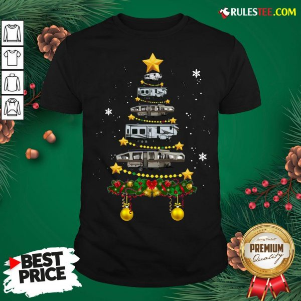 Funny Camping Car Christmas Tree Shirt - Design By Rulestee.com