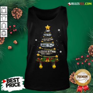 Funny Camping Car Christmas Tree Tank Top - Design By Rulestee.com