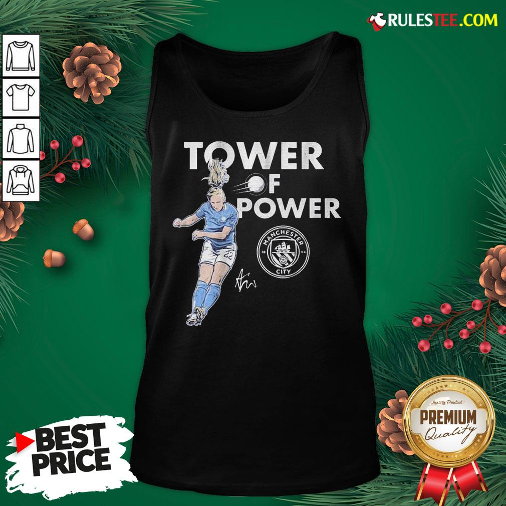 Funny Manchester City Sam Mewis Tower Of Power Signature Tank Top - Design By Rulestee.com