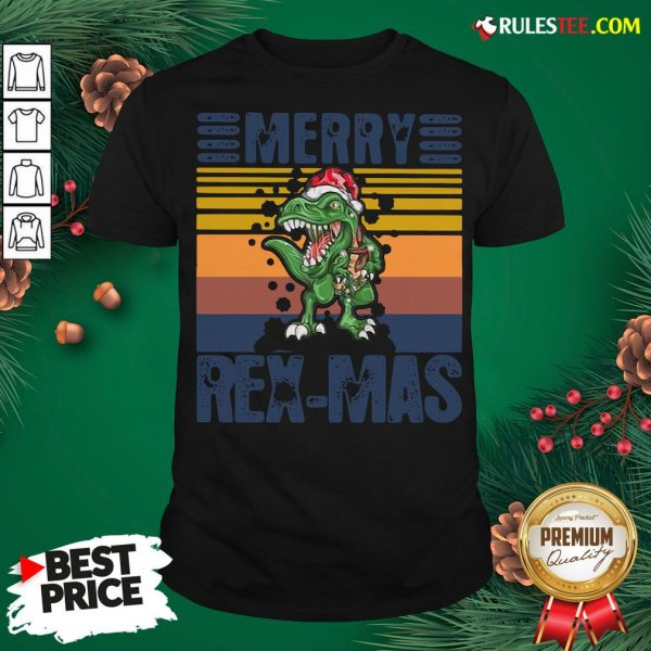 Good Christmas Santa T-Rex Merry Rexmas Vintage Shirt - Design By Rulestee.com
