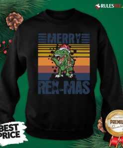 Good Christmas Santa T-Rex Merry Rexmas Vintage Sweatshirt - Design By Rulestee.com