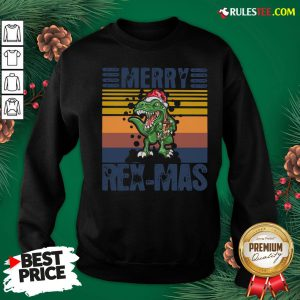 Good Christmas Santa T-Rex Merry Rexmas Vintage Sweatshirt - Design By Rulestee.com