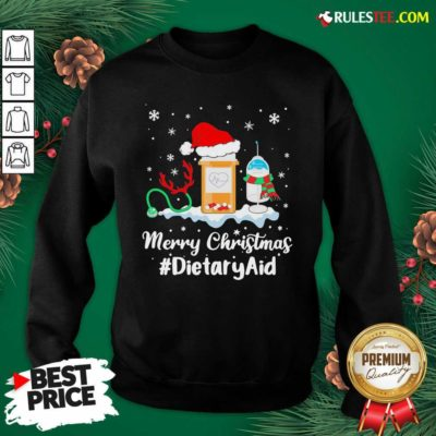 Nurse Santa Vaccine Merry Christmas #Dietary Aid Sweatshirt - Design By Rulestee.com