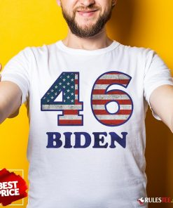 Hot 46 Joe Biden 2020 Us President Election Pro Biden Democrat Flag Shirt- Design By Rulestee.com
