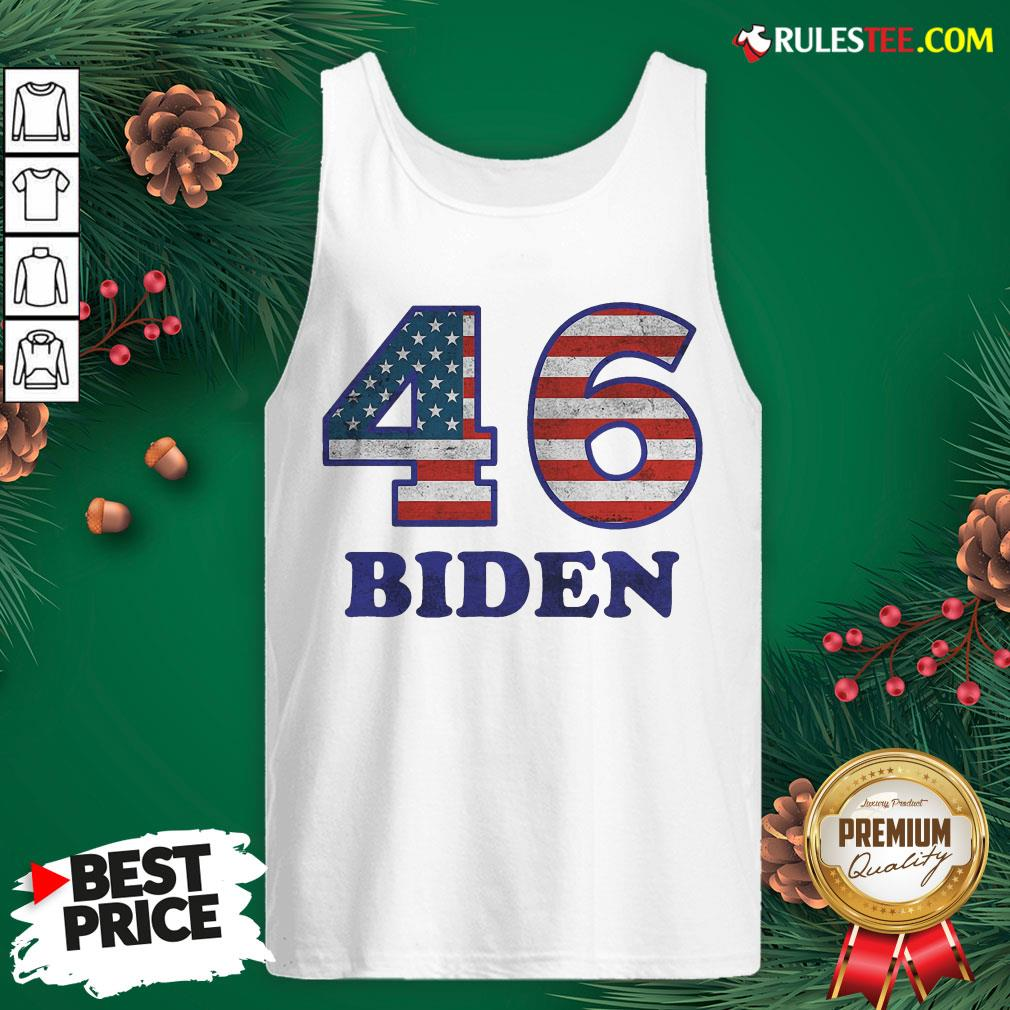 Hot 46 Joe Biden 2020 Us President Election Pro Biden Democrat Flag Tank Top- Design By Rulestee.com