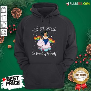 Hot Chubby Girls Riding Unicorn You Are Special Be Proud Of Yourself Hoodie - Design By Rulestee.com
