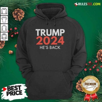 He's Back Trump 2024 Reelection Hoodie - Design By Rulestee.com