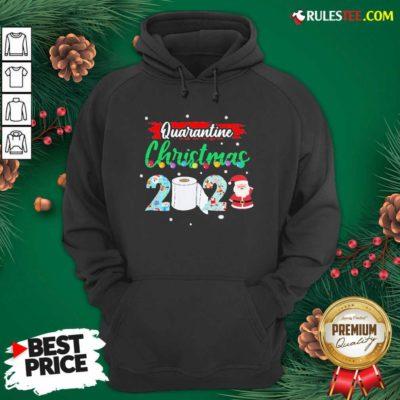 Merry Quarantine Christmas 2020 Pajamas Hoodie - Design By Rulestee.com