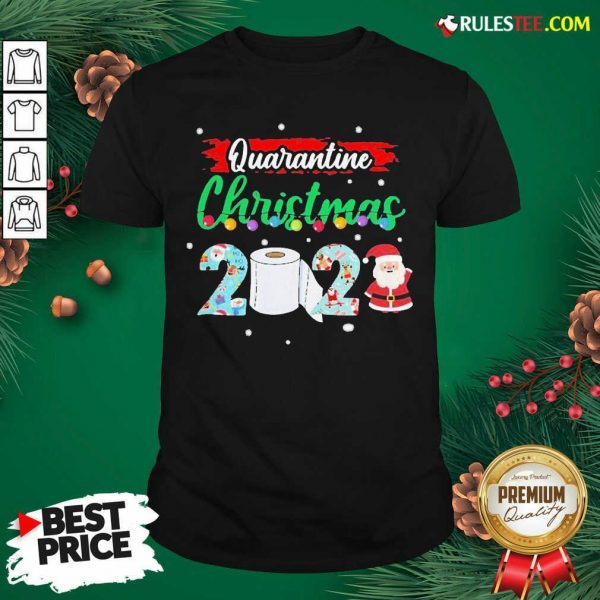 Merry Quarantine Christmas 2020 Pajamas T-Shirt - Design By Rulestee.com