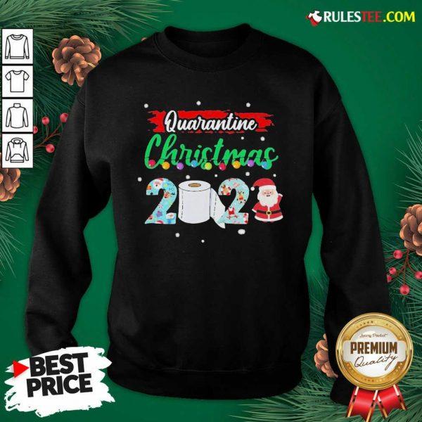Merry Quarantine Christmas 2020 Pajamas Sweatshirt - Design By Rulestee.com