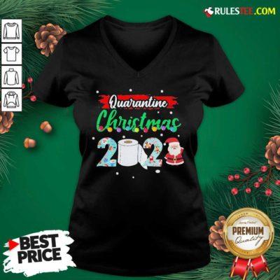 Merry Quarantine Christmas 2020 Pajamas V-neck - Design By Rulestee.com