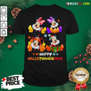 Hot Minnie Mouse Happy Hallothanksmas Shirt- Design By Rulestee.com