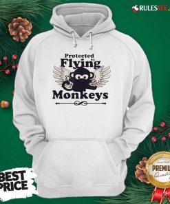 Hot Protected By Flying Monkeys Ninja Hoodie - Design By Rulestee.com