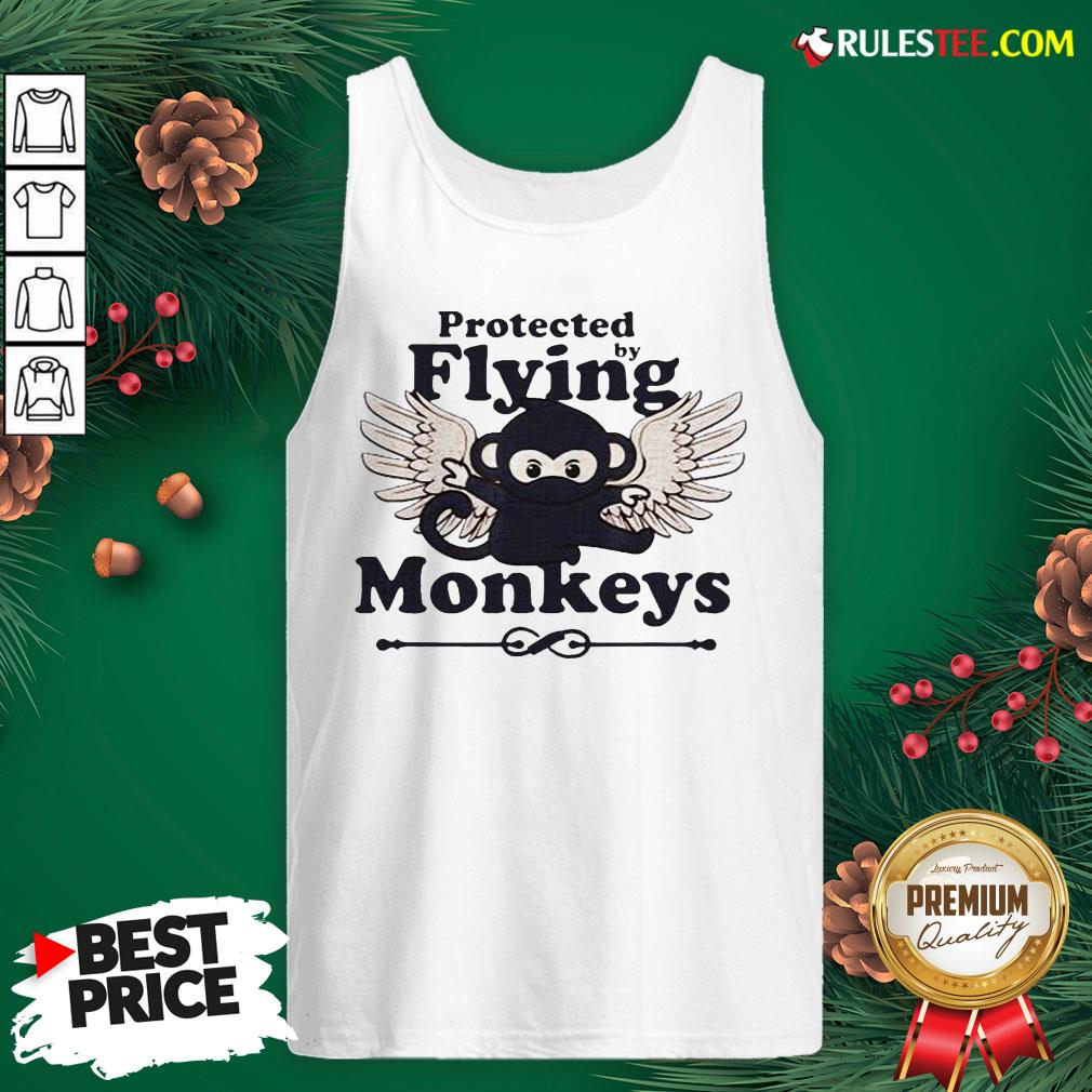 Hot Protected By Flying Monkeys Ninja Tank Top - Design By Rulestee.com