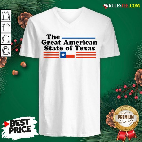 Hot The Great American State Of Texas V-neck - Design By Rulestee.com