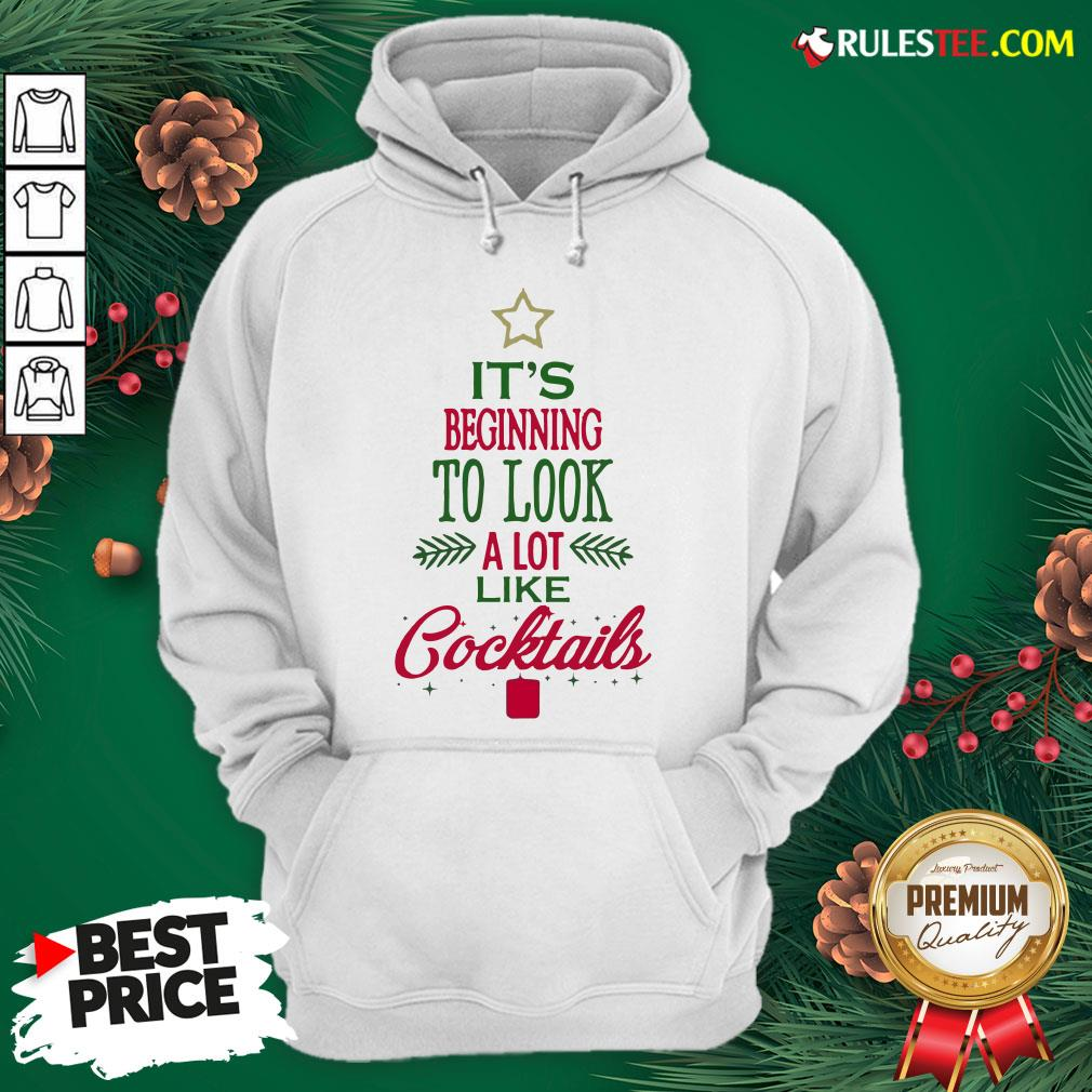 Nice It?s Beginning To Look A Lot Like Cocktails Christmas Hoodie - Design By Rulestee.com