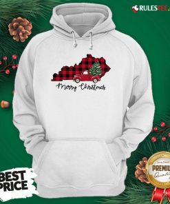 Official Kentucky Merry Christmas Tree Hoodie - Design By Rulestee.com