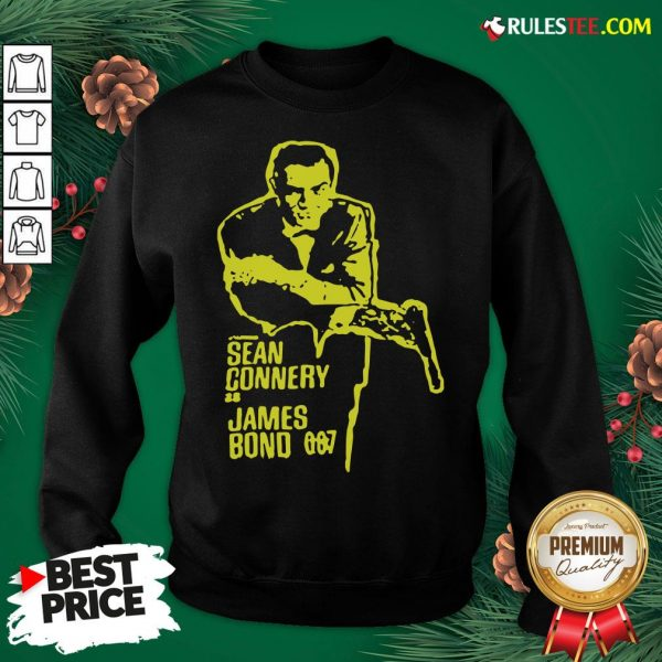 Official Sean Connery As James Bond 007 Sweatshirt - Design By Rulestee.com