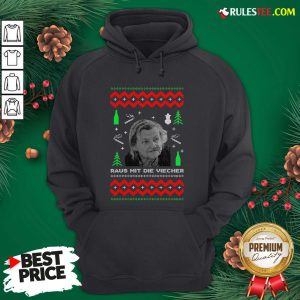 Official Ugly Christmas Familie Ritter Raus Mit Die Viecher Hoodie- Design By Rulestee.com
