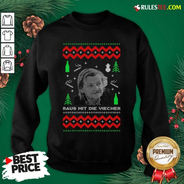 Official Ugly Christmas Familie Ritter Raus Mit Die Viecher Sweatshirt- Design By Rulestee.com