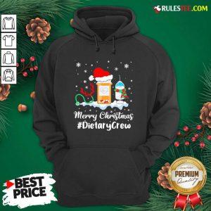 Nurse Santa Vaccine Merry Christmas #Dietary Crew Hoodie - Design By Rulestee.com