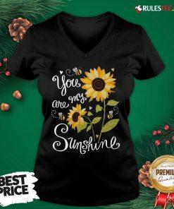 Original Sunflower You Are My Sunshine V-neck - Design By Rulestee.com