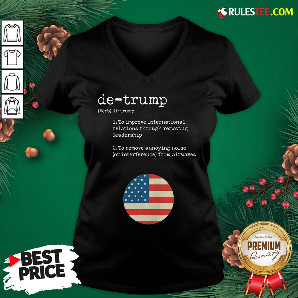 Original Trump Dictionary Definition For Usa Election Result Vintage V-neck- Design By Rulestee.com