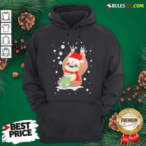 Perfect Christmas Mountain Sloth Knitting Cute Hoodie - Design By Rulestee.com