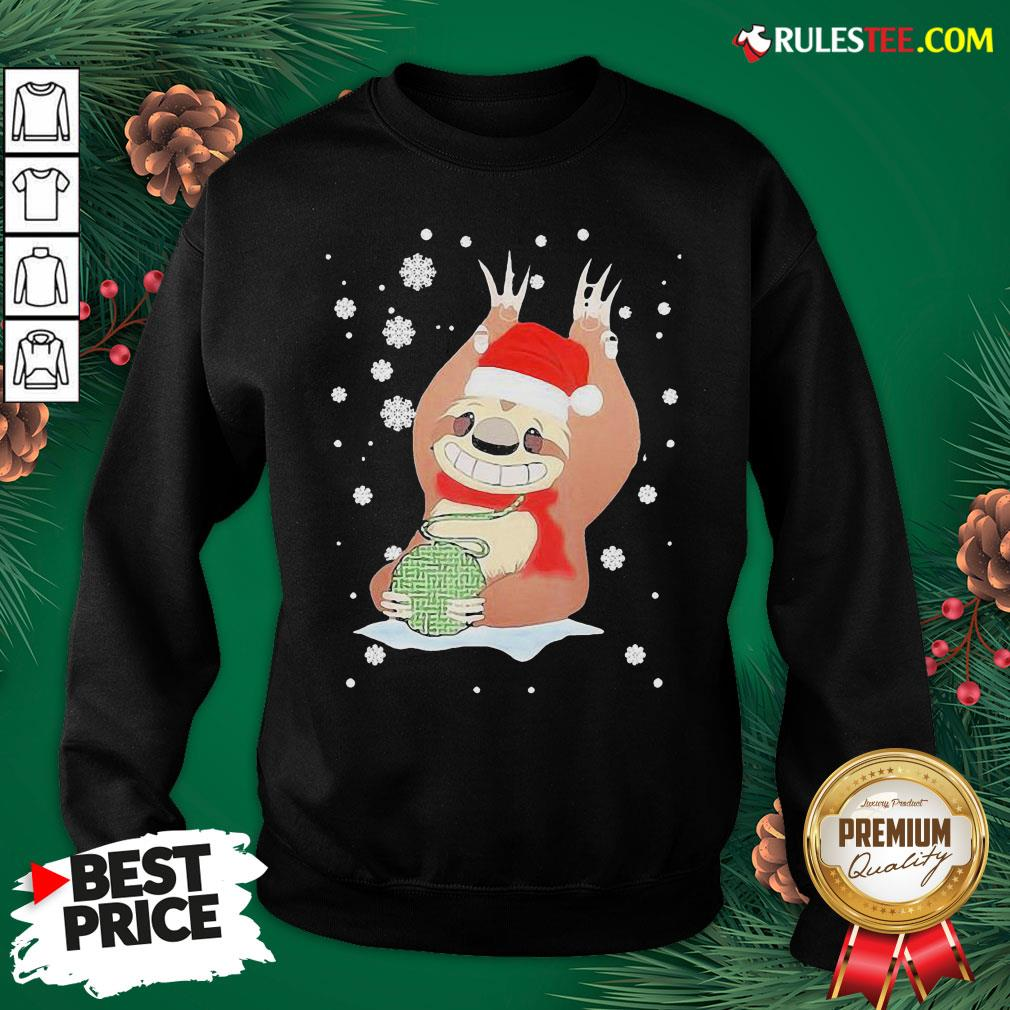 Perfect Christmas Mountain Sloth Knitting Cute Sweatshirt - Design By Rulestee.com