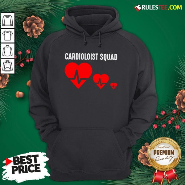 Premium Cool Cardiology Squad Funny Medical Heart Doctor Team Gift Hoodie- Design By Rulestee.com