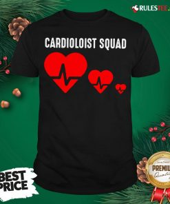 Premium Cool Cardiology Squad Funny Medical Heart Doctor Team Gift T-Shirt- Design By Rulestee.com