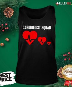 Premium Cool Cardiology Squad Funny Medical Heart Doctor Team Gift Tank Top- Design By Rulestee.com
