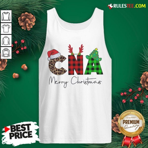 Premium Plaid CNA Merry Christmas 2020 Tank Top - Design By Rulestee.com