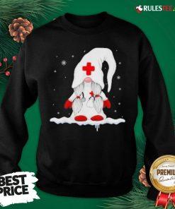 Pretty Nurse Santa Claus Merry Christmas Snow Sweatshirt- Design By Rulestee.com