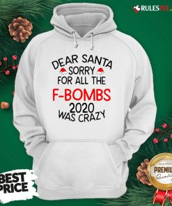 Top Dear Santa Sorry For All The F-bombs 2020 Was Crazy Hoodie - Design By Rulestee.com