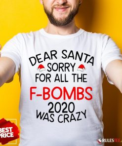 Top Dear Santa Sorry For All The F-bombs 2020 Was Crazy Shirt - Design By Rulestee.com