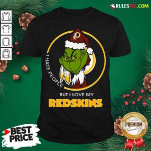 Top Grinch I Hate People But I Love My Redskins Shirt- Design By Rulestee.com