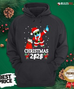Top Santa Claus Dabbing Wine And Toilet Paper Christmas 2020 Hoodie - Design By Rulestee.com