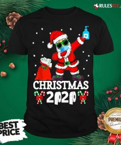 Top Santa Claus Dabbing Wine And Toilet Paper Christmas 2020 Shirt - Design By Rulestee.com