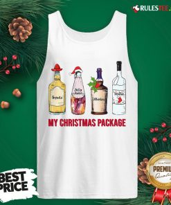 Top Santa Tequila Jolly Juice Whiskey Vodka My Christmas Package Tank Top - Design By Rulestee.com