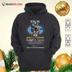Green Bay Packers 5 Paul Hornung 1935 2020 Hall Of Fame Thank You For The Memories Signature Hoodie - Design By Rulestee.com