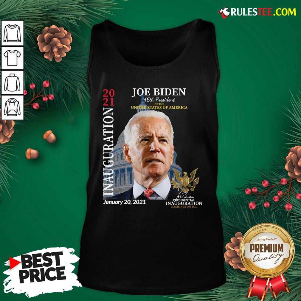 Awesome 2021 Inauguration Day Joe Biden Commemorative Souvenir Tank Top   - Design By Rulestee.com