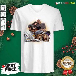 Kobe And Gigi Lebron James V-neck - Design By Rulestee.com