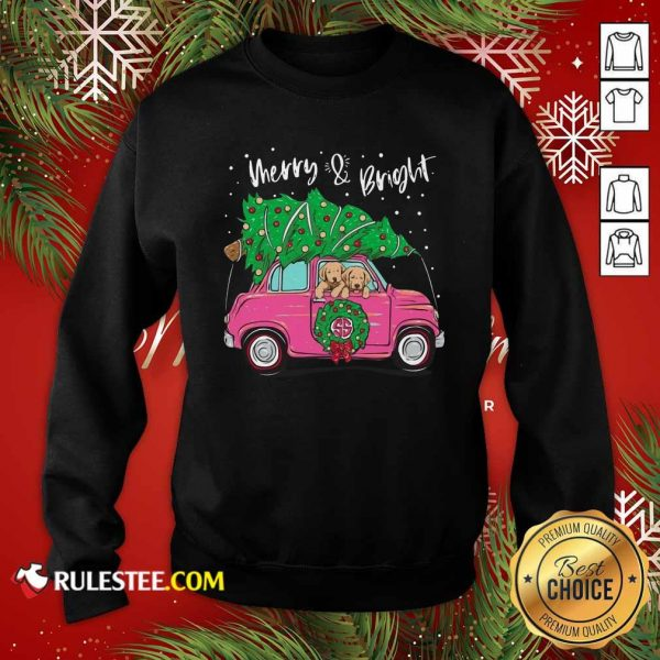 Merry And Bright Pitbull Dog Ugly Christmas Sweatshirt - Design By Rulestee.com